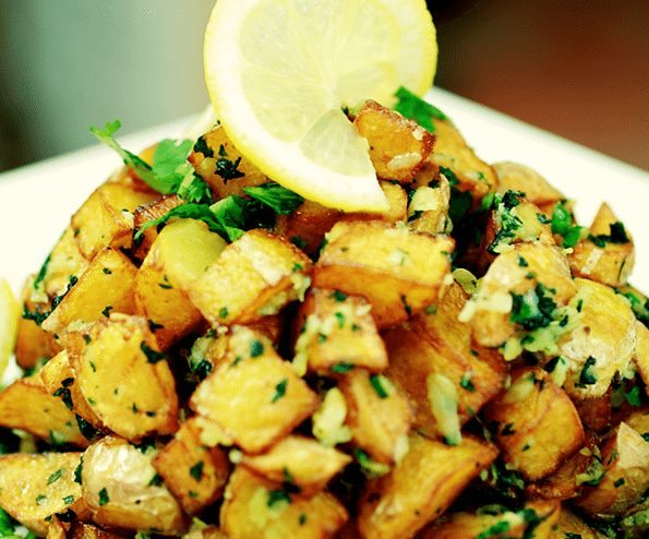 Potatoes with garlic