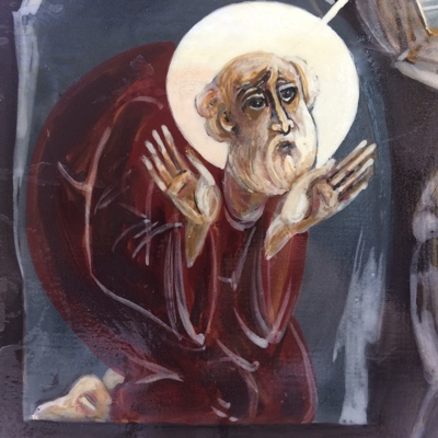 Icon of the Celtic Saint Kenneth