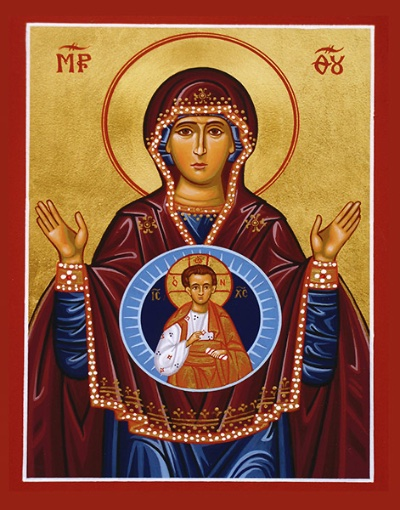 Theotokos with Christ Icon