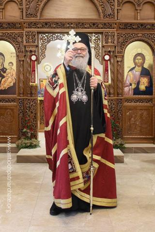Patriarch John X at St. Paul's Orthodox Church, Dandenong, on 20 December 2017