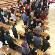 Congregation at worship
