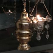 The censer being prepared for use