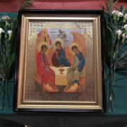 Icon of the Holy Trinity showing Abraham's Heavenly Visitors.