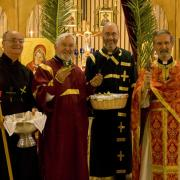 Fr. Geoff and other clergy celebrating Divine Liturgy